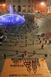 Genova, Piazza De Ferrari - Flash Mob giovani per la pace