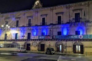 Modica (Ragusa)- Palazzo San Domenico illuminato