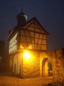 Themar, Germania - la Torre nelle mura della città