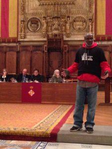 Il testimone Shujaa Graham a Barcellona